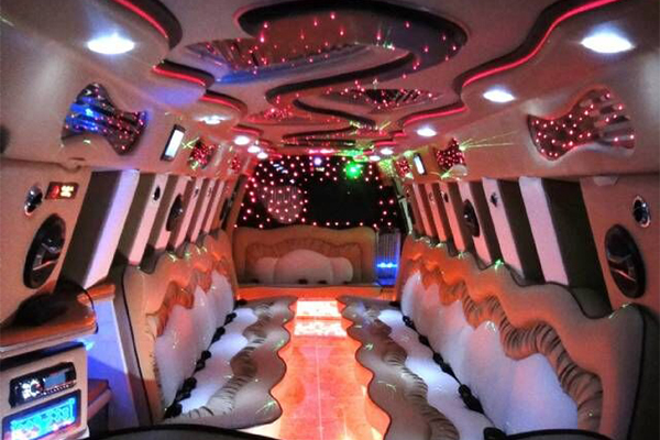 Escalade Limo Interior Long Beach