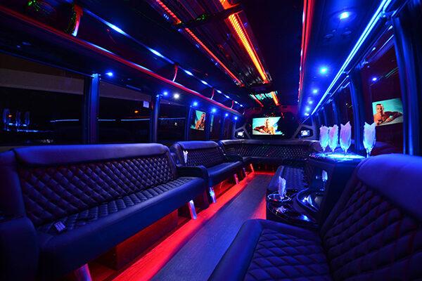 Large Party Bus Rental Long Beach